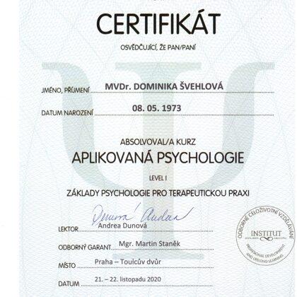 aplikovaná psychologie pro terapeutickou praxi